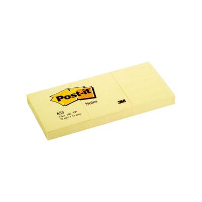 Bloc de notas adhesivas amarillo Post-it 653-E