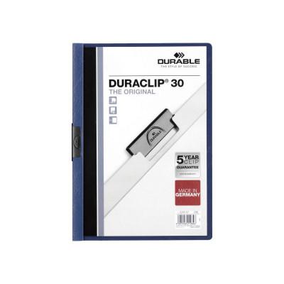 Dossier con clip metálico A4 30 hojas Durable Duraclip 220007