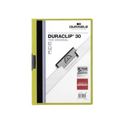 Dossier con clip metálico A4 30 hojas Durable Duraclip 220032