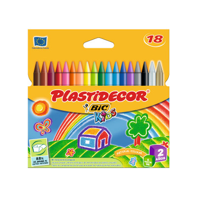 Lápices de cera de colores Plastidecor 8757711