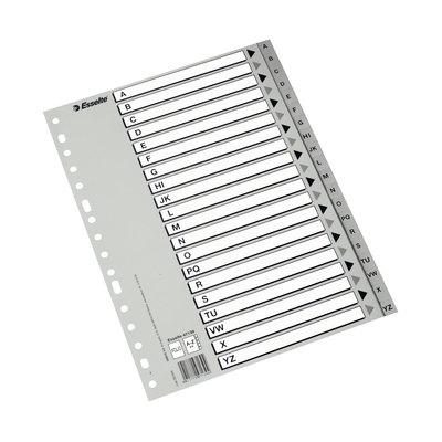 Separadores de PP A4 índice A-Z Esselte A4 multitaladro A-Z