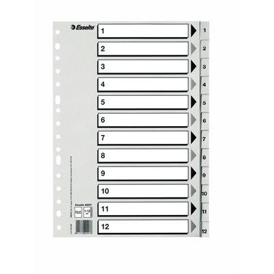 Separadores de PP folio índice numérico Esselte del 1 al 31