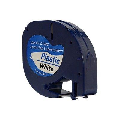 Cinta compatible rotuladora electrónica Dymo Letratag 91201