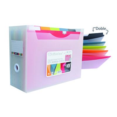 Caja organizadora para carpetas colgantes Fraga Vital Colors Desk Free