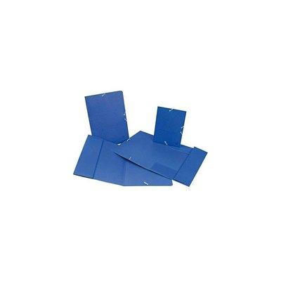 Carpeta con gomas cartón azul Mariola solapas folio