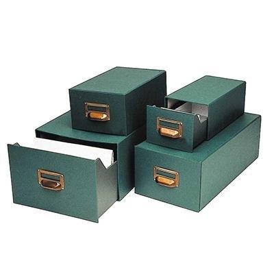 Ficheros de cartón verde Mariola 500 fichas nº 3, 100x150mm