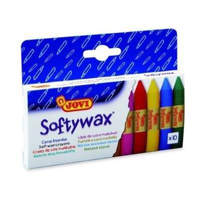 Lápices de cera de colores Jovi Softywax 930/10