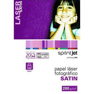 Papel fotográfico láser A4 200g Fabrisa Sprintjet 7420020LS