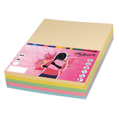 Papel multifunción A4 de colores surtidos pastel Fabrisa 16329