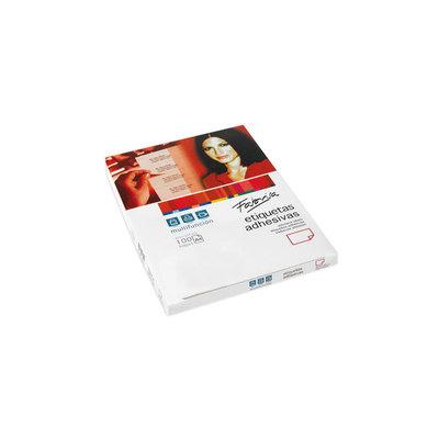 Etiquetas adhesivas A4 cantos rectos 100 hojas Fabrisa 15327