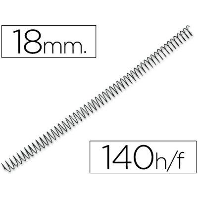 Espiral metalico q-connect 64 5:1 18mm 1,2mm caja de 100 unidades. KF04433