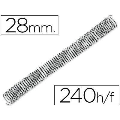Espiral metalico q-connect 64 5:1 28mm 1,2mm caja de 50 unidades. KF04438