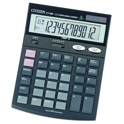 Calculadora de sobremesa 12 dígitos Citizen CT-666 CT-666