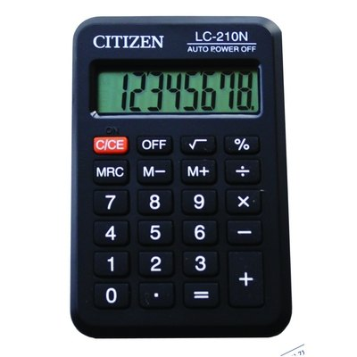 Calculadora de bolsillo 8 dígitos Citizen LC-210N