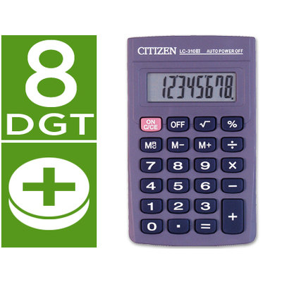 Calculadora de bolsillo 8 dígitos Citizen LC-310 II LC-310N