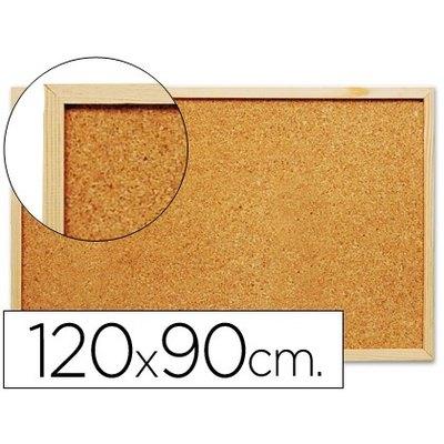 Tablero corcho q-connect 120x90 cm marco de madera. KF26114