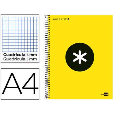 Cuaderno espiral microperforado tapa forrada Liderpapel Antartik 74588