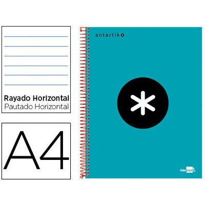 Cuaderno espiral microperforado tapa forrada Liderpapel Antartik 74544