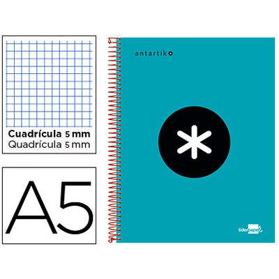 Cuaderno espiral microperforado tapa forrada Liderpapel Antartik 74594
