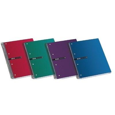 Cuaderno espiral microperforado tapa extradura 160 hojas Enri Status A5+ cuadrícula 5x5 colores surtidos