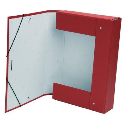 Caja de proyectos de cartón forrado con gomas Mariola lomo 50mm rojo