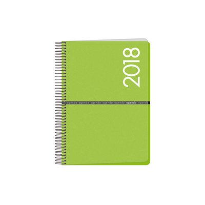 Agenda día página Dohe Metrópoli 15x21cm verde