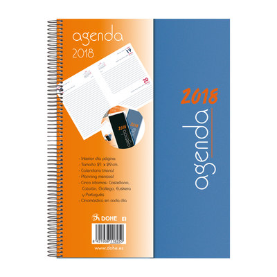 Agenda día página Dohe Syncro 21x29cm negro