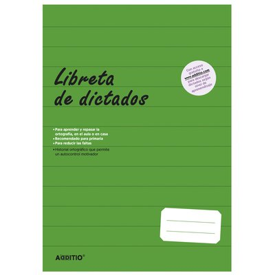 Libreta de dictados para Educación Primaria Additio D102