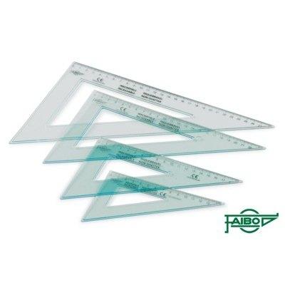 Cartabón plástico 25cm bolsa 21325
