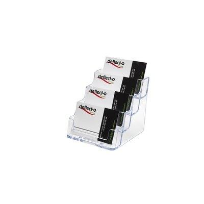 Portatarjetas de sobremesa con 4 compartimentos Deflecto DE70841 CS