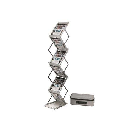 Expositor de aluminio plegable con 6 estantes Deflecto DE36100 AL