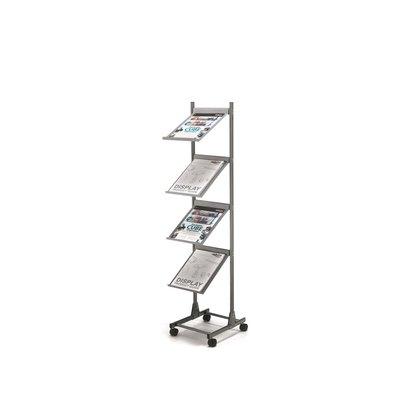 Expositor de aluminio para suelo con 4 bandejas Deflecto DE33300 AL