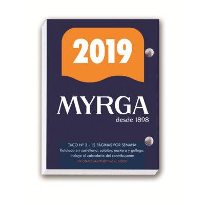 Bloque calendario sobremesa Myrga nº3 8,3x11cm