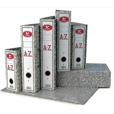 Archivador de palanca jaspeado gris A-Z Grafoplas tamaño folio 350x290x75