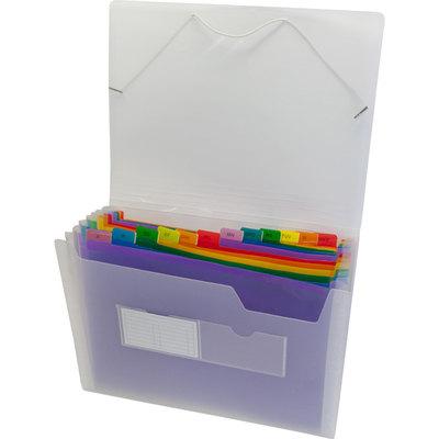 Carpeta clasificadora 13 separadores con fuelle folio multicolor Grafoplás