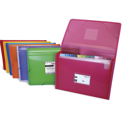 Carpeta clasificadora 13 separadores con fuelle folio Grafoplás Multiline azul