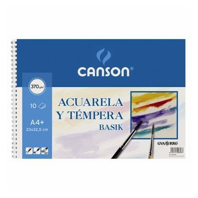Bloc de dibujo para acuarela Canson Basik A4+ 200400698