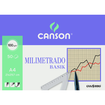 Bloc de papel milimetrado Canson Basik