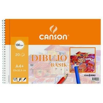 Papel dibujo minipack Canson Basik A4+ 240x320mm con recuadro