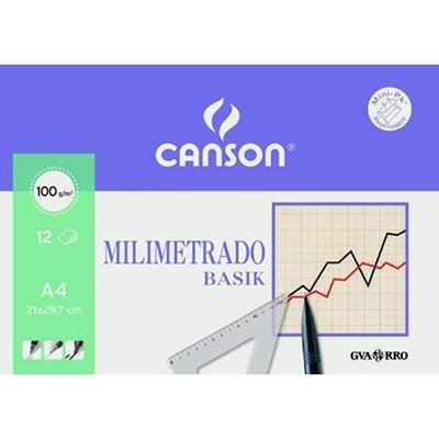 Papel milimetrado minipack Canson Basik 200406323
