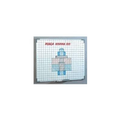 Pizarra blanca marco aluminio cuadriculada Faibo 11CF-3