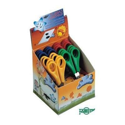 Expositor de 20 tijeras escolares punta roma Faibo TE13E