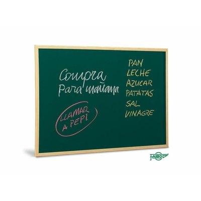 Pizarra verde melaminada marco madera Faibo 60x90cm