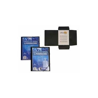 Carpeta con gomas y solapas personalizable A4+ Office Box azul