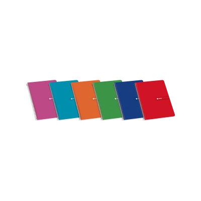 Cuaderno espiral tapa blanda 80 hojas Enri 100430104