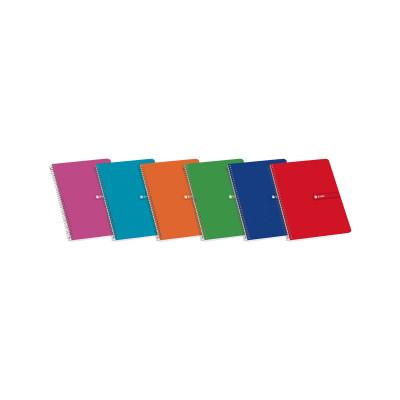 Cuaderno espiral tapa blanda 80 hojas Enri 100430107