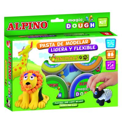 Kit pasta de modelar Alpino Magic Dough animales