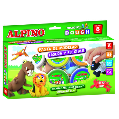 Kit pasta de modelar y figuras Alpino Magic Dough pequeño