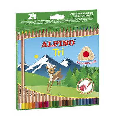Lápices de colores triangulares Alpino Tri AL000128