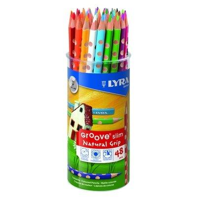 Lápices de colores triangulares Lyra Groove Slim 2823480